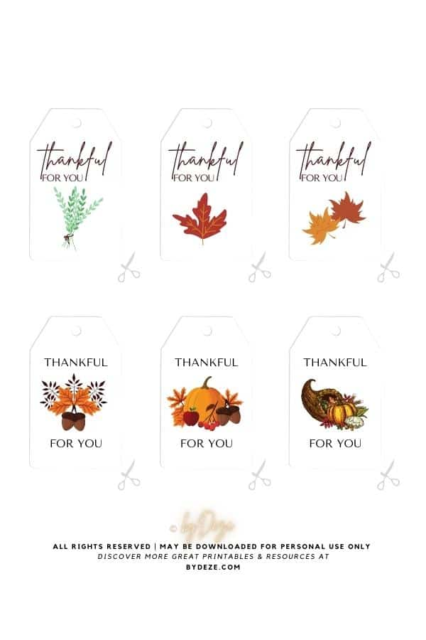 free printable gift tags that say thankful for you