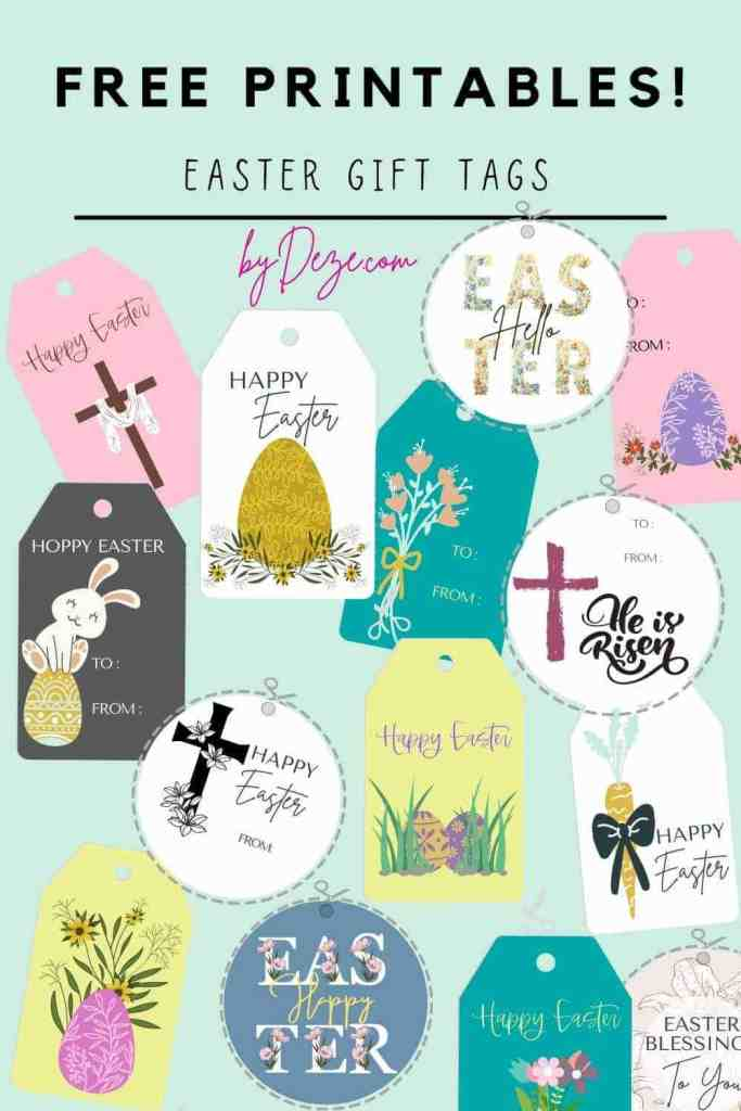 21 free printables easter gift tags