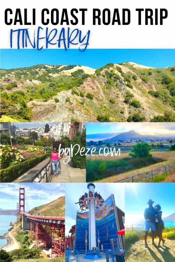 itinerary for los angeles to san francisco ROAD TRIP