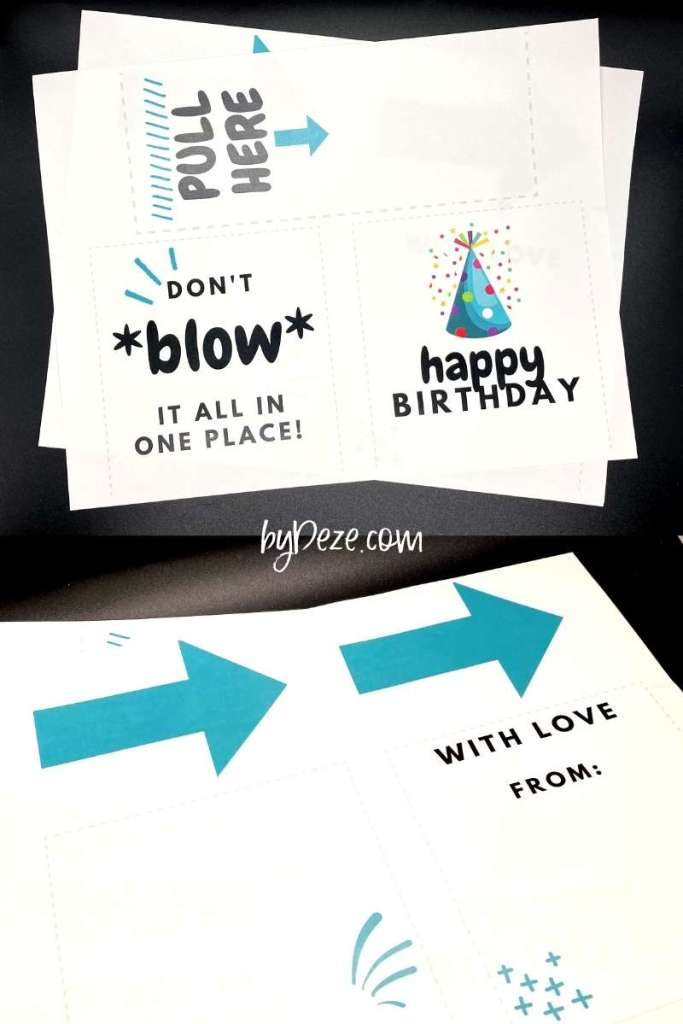 money tissue box printables for birthdays