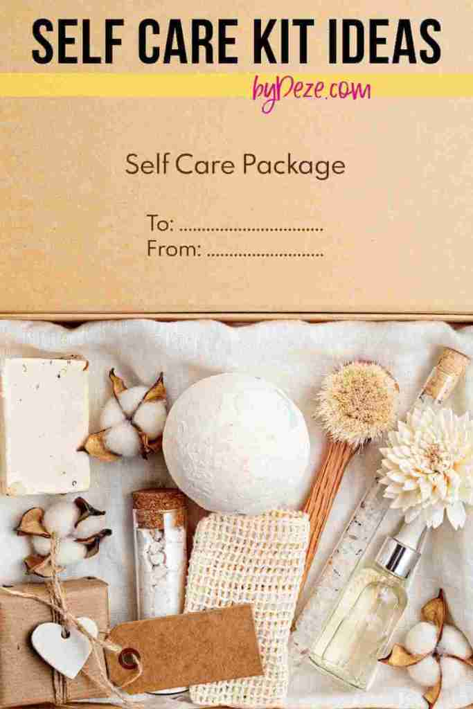 a self care box with ideas and inspiration