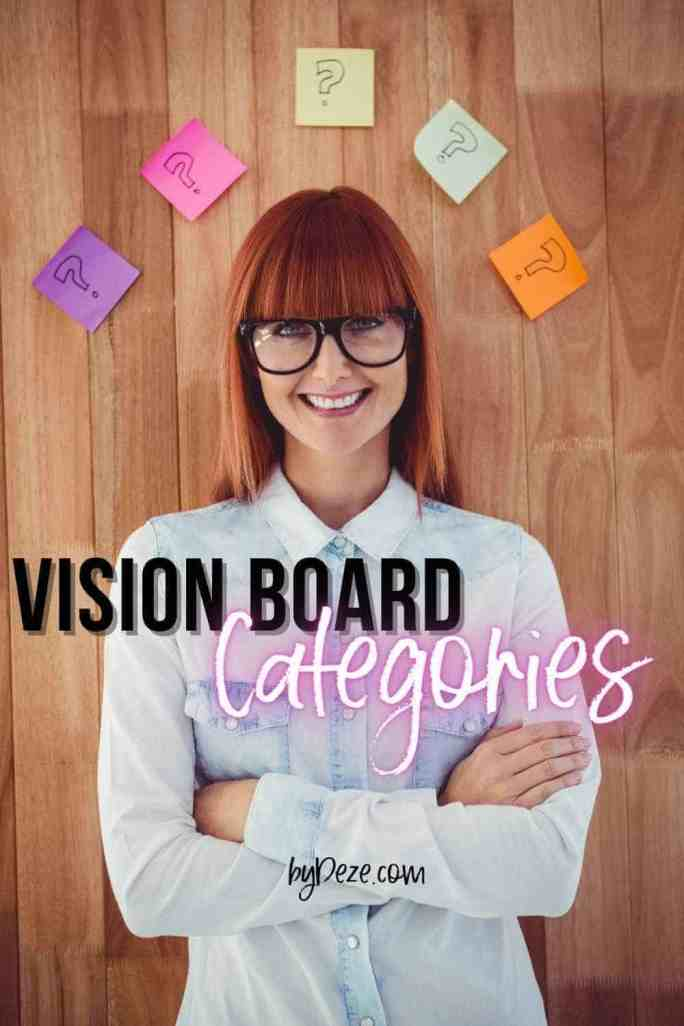 vision board categories and types
