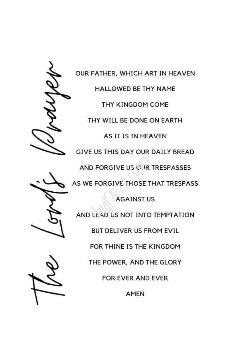 the lords prayer printable