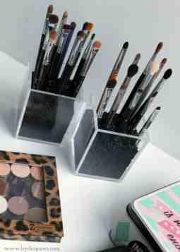 Diy Sadan Organiserer Jeg Mine Makeup Borster By Dianawi