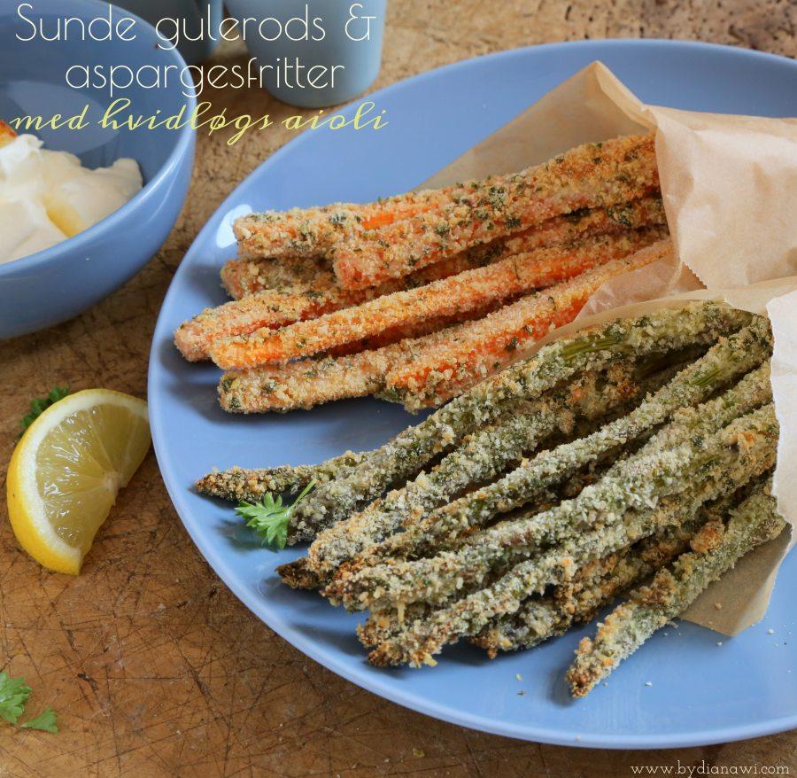 gulerodsfritter, aspargesfritter, sund snack