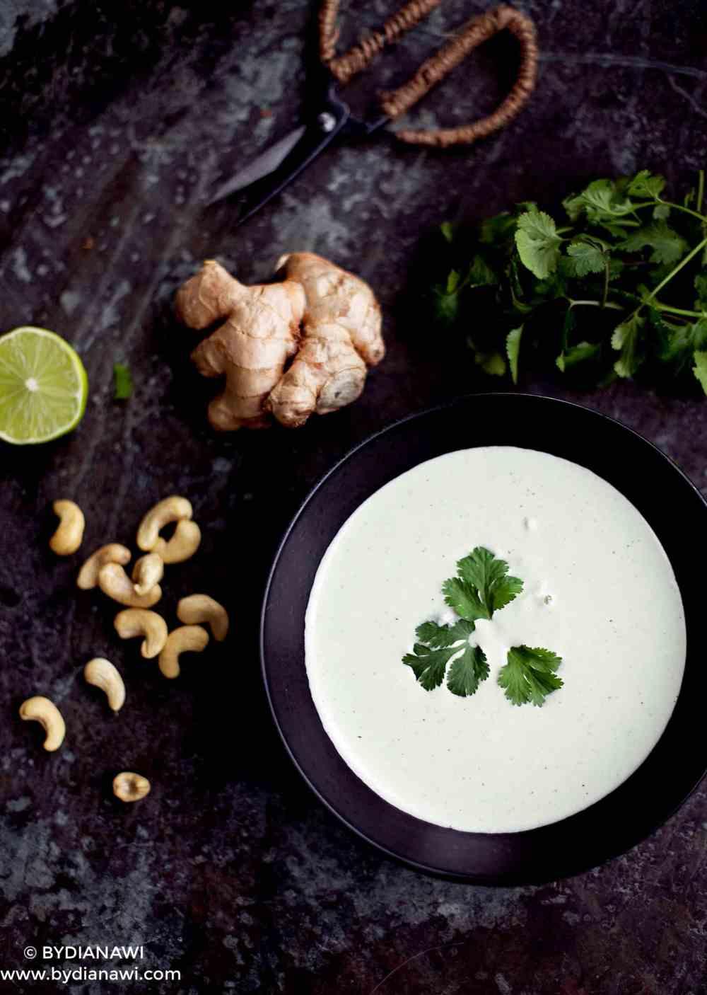 cashewdressing, dip af cashewnødder, mælkefrit alternativ