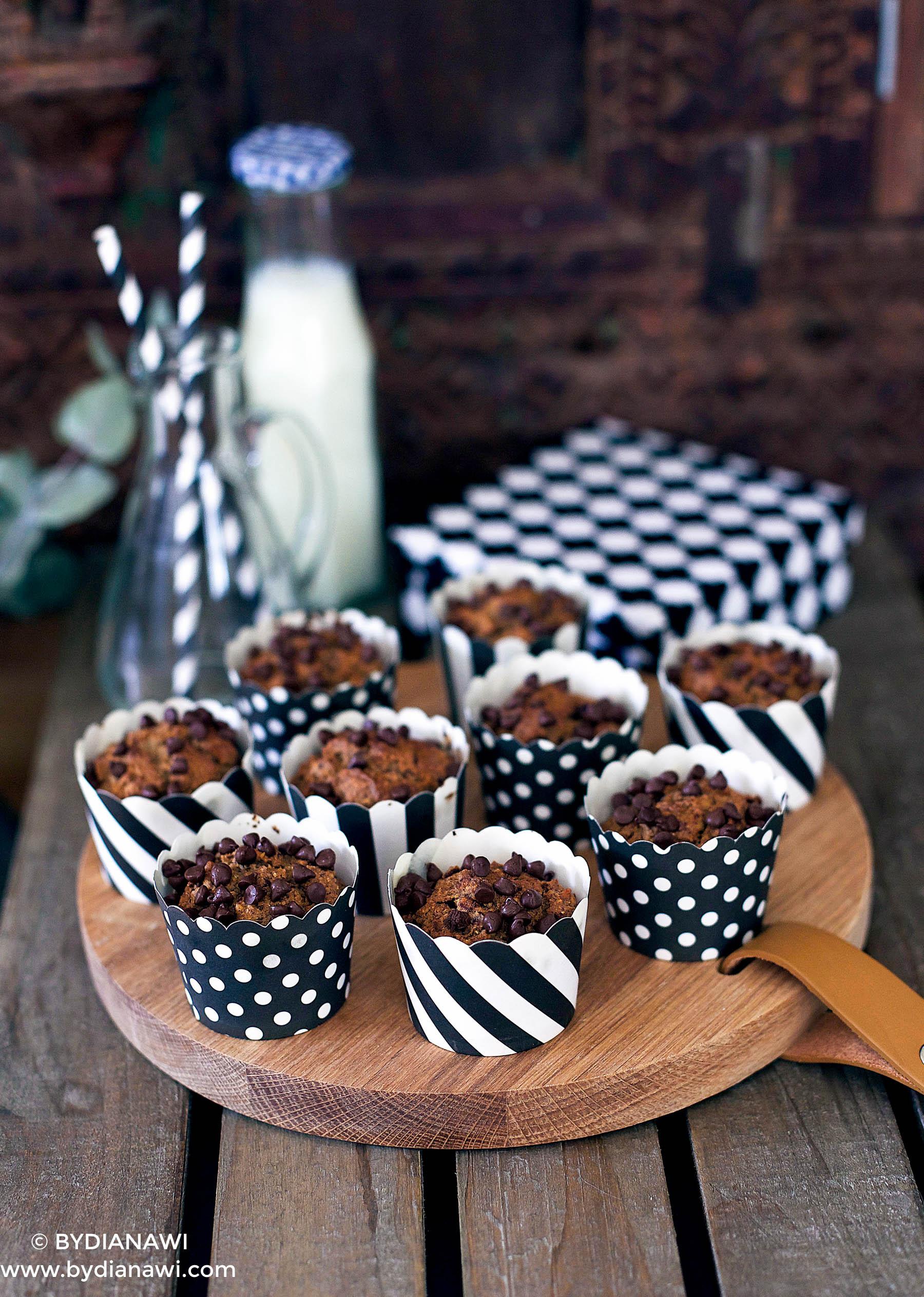 sunde bananmuffins uden sukker og mel, sunde desserter, kager