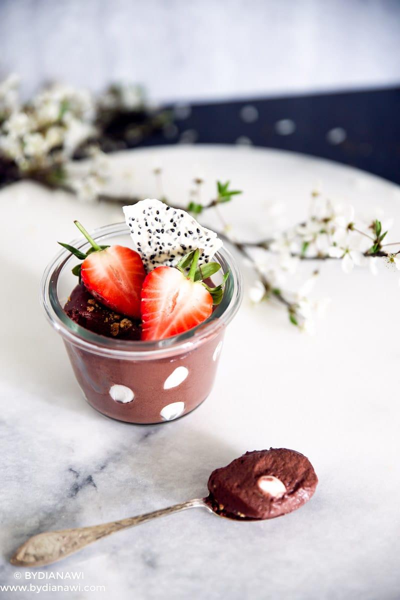 sund dessert med skyr, sund mellemmåltid, slankekost, nutella