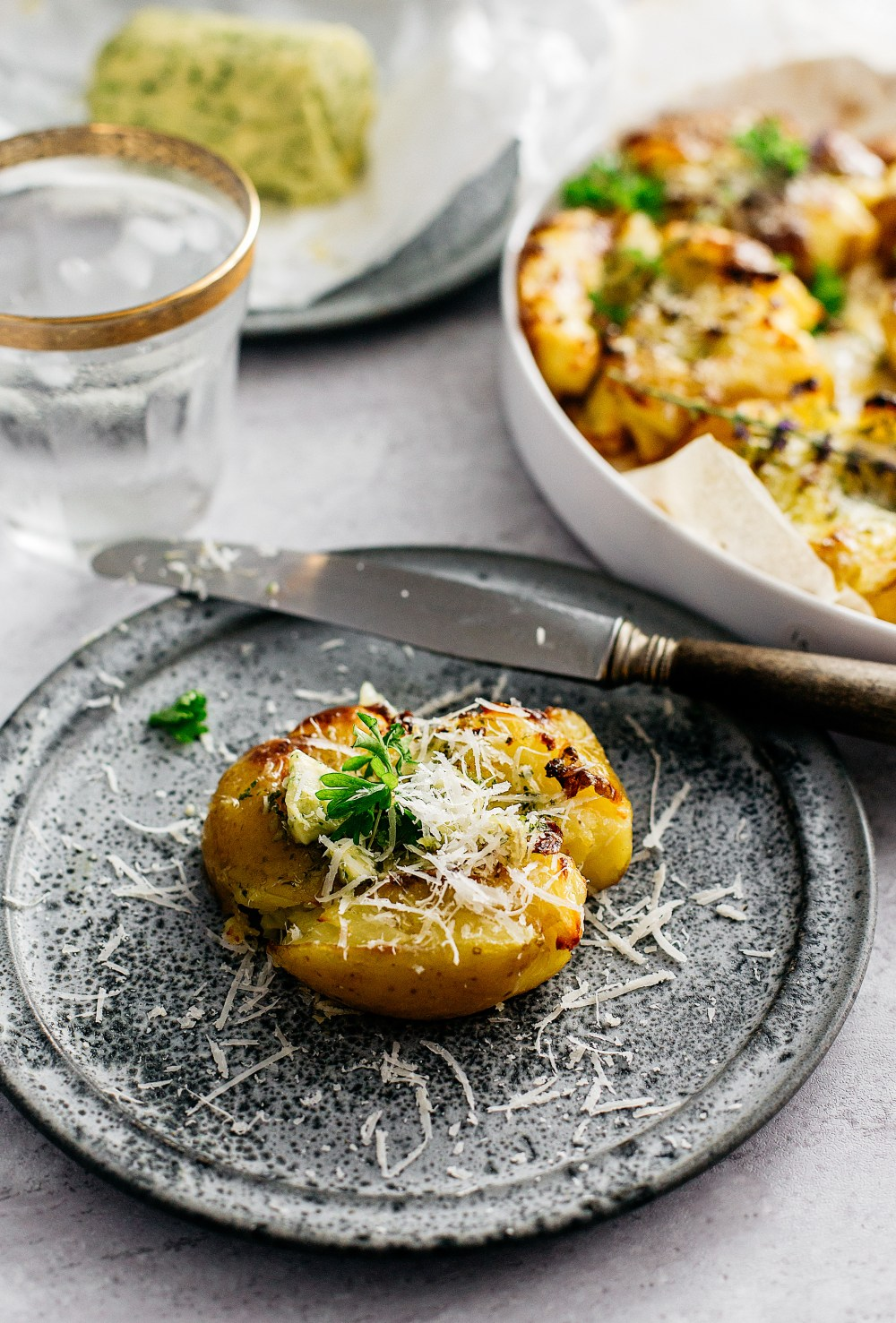 smashed potatoes, grillmad, knuste kartofler i ovn
