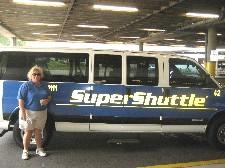 Super Shuttle van at TPAairport