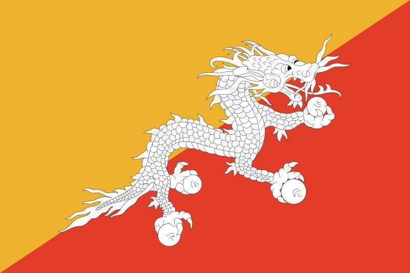 Flag of Bhutan (source:www.wikipedia.org)