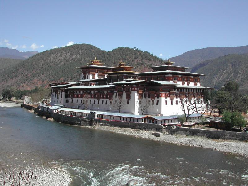 The Dzong (fortress-monastery) at Punakha; Henry David Shapiro©2003