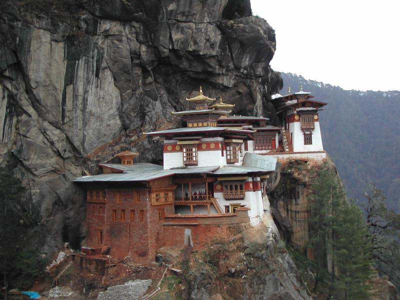 The Taktshang Goemba (Tiger's Nest Monastery); Henry David Shapiro©2003