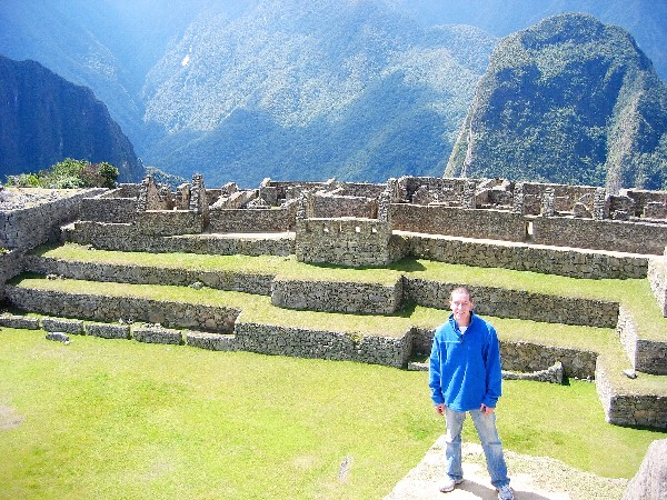 Andrew Hass at Machu Picchu,Peru; CLICK TO ENLARGE