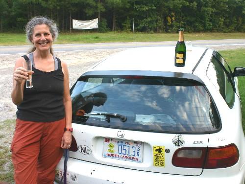 Diane celebrates milestone with champagne