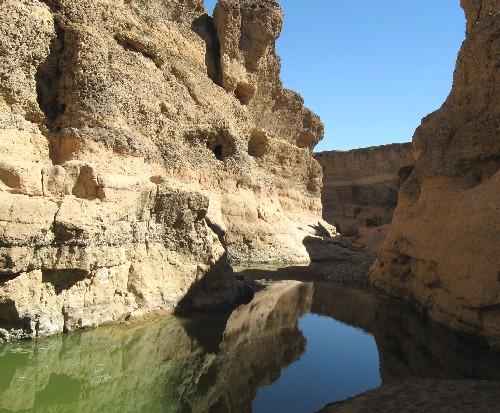 Sesriem Canyon in Namib Desert