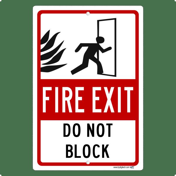 Fire Exit Do Not Block Aluminum Sign
