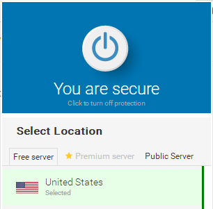 Hoxx VPN connected Screen