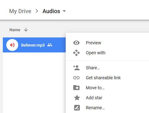 Get Google Drive Share Link