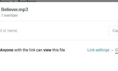Copy Dropbox Shareable Link