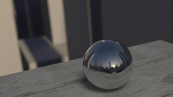 Buildings in Mirror Marble