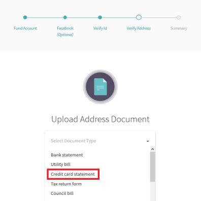 Neteller Address Verification Options