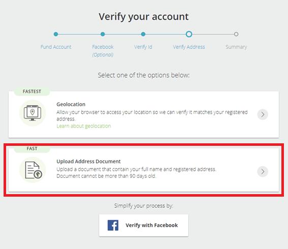 Skrill Address Verification Options