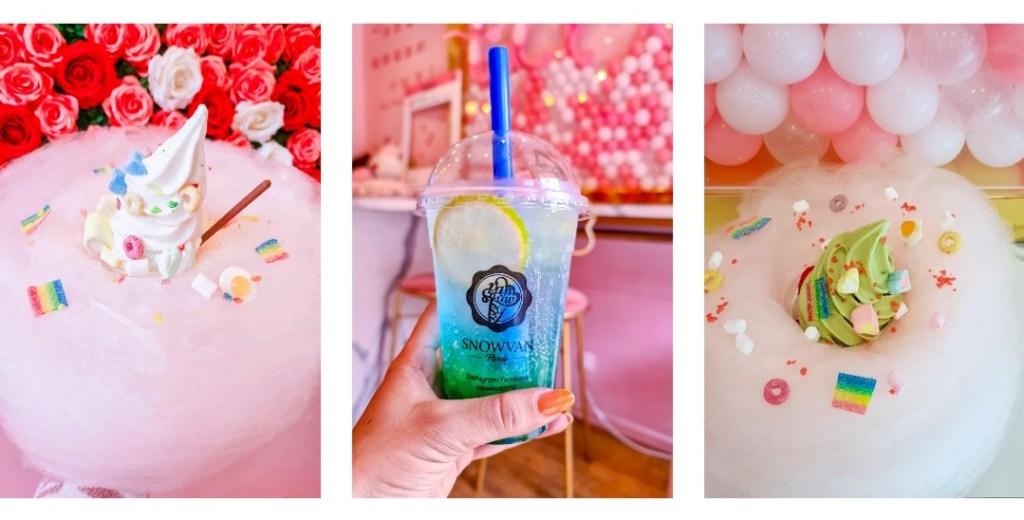 La deuxième des meilleures adresses sucrées à Paris, deux phoots de glaces et un bubble tea kawaii.
