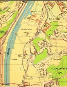 Územní plán Hodkoviček z roku 1947