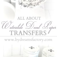 All about waterslide decal paper transfers