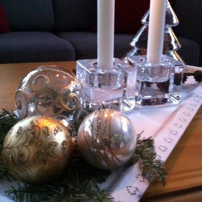 Hvitt, glass, gull og snart nytt år