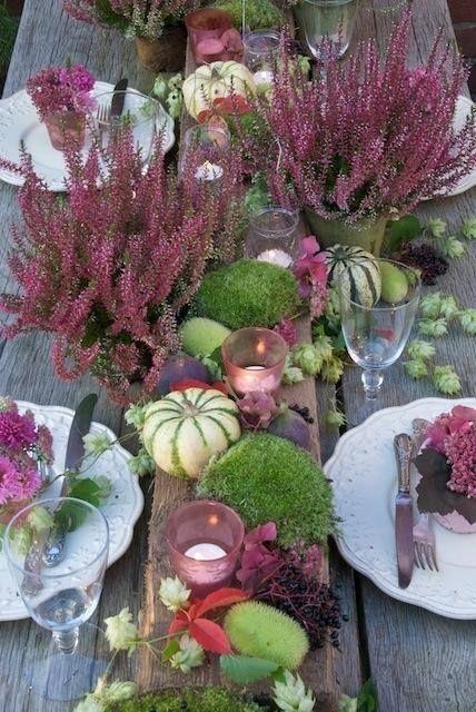 Høsten er herlig og bordpynten fantastisk