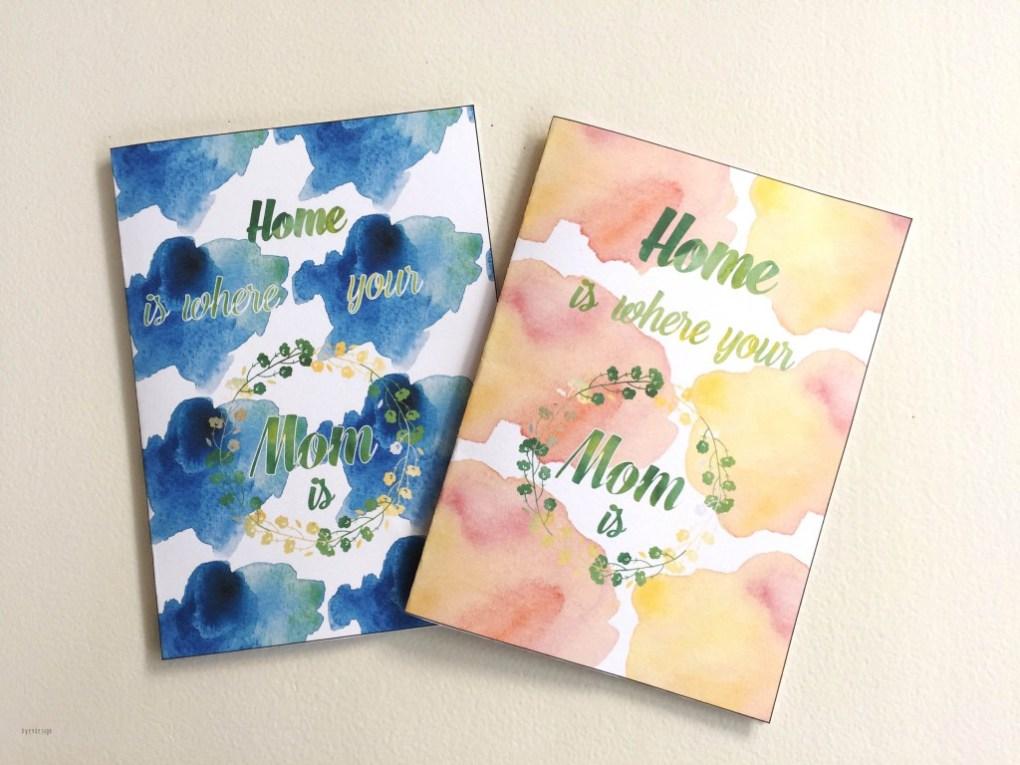 Mothersdaycard -bye9design digitalt print - nordic design
