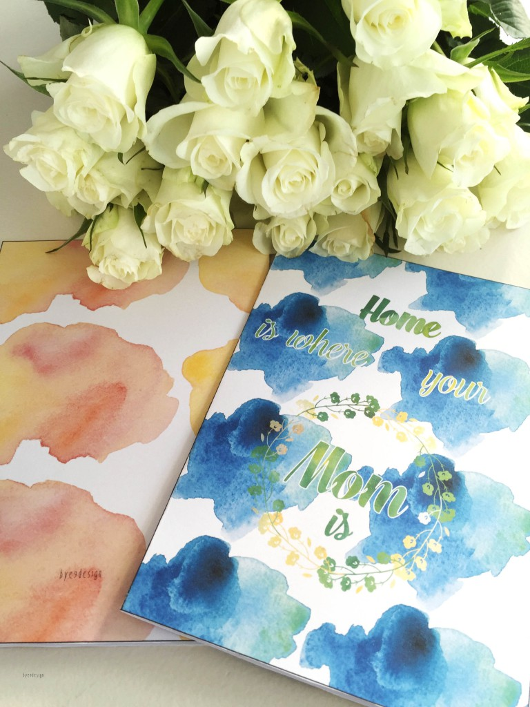 Mothersdaycard -bye9design digitalt print - nordic design