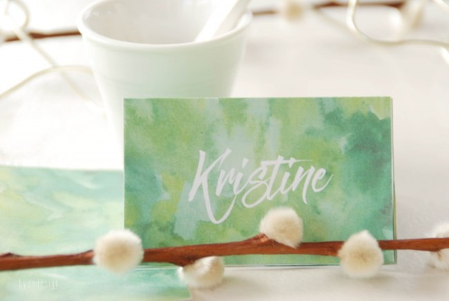 grønn bordkort - bordkort - nordic design - bye9designprintshop