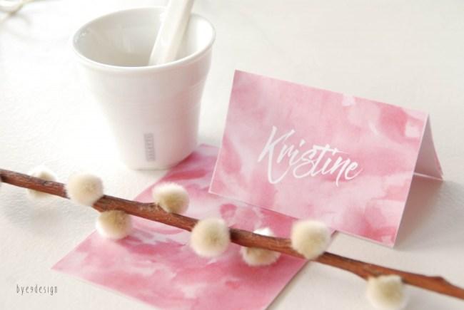 rosa bordkort - bordkort - nordic design - bye9designprintshop