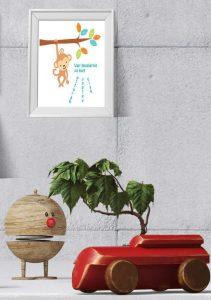 Jungeldyr - til veggen - print til barnerommet - bye9design printshop