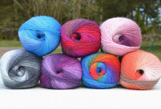 Nordlysgarnet – garn i nordlysets farger