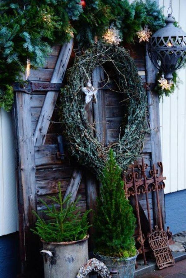 Julepyntet trapp