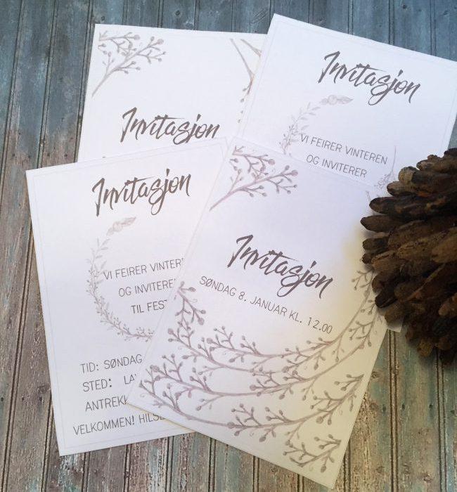 Invitasjon til vinter party – redigerbare invitasjoner
