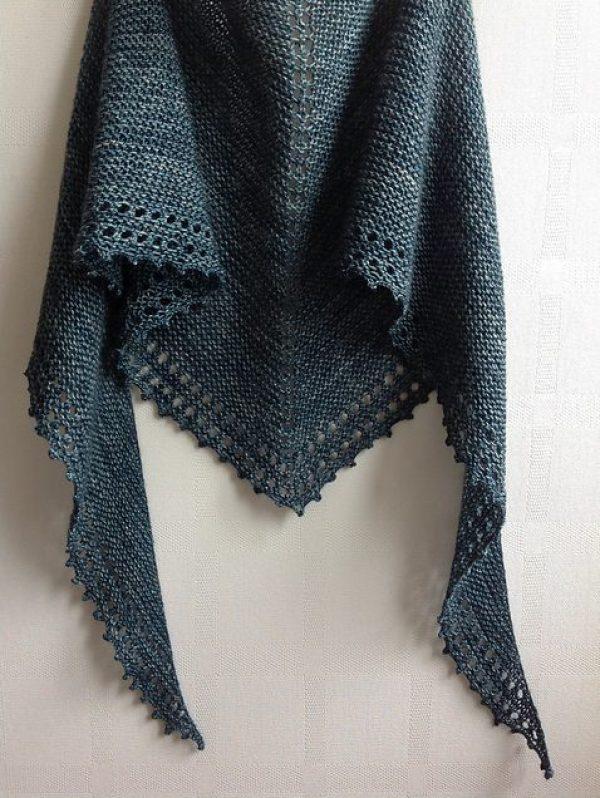 Strikkede sjal- bye9design