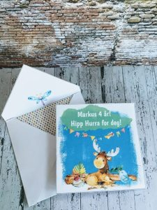 morsomme barnekort med redigerbar tekst