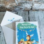 Dyrene i Eventyrskogen – morsomme barnekort med redigerbar tekst