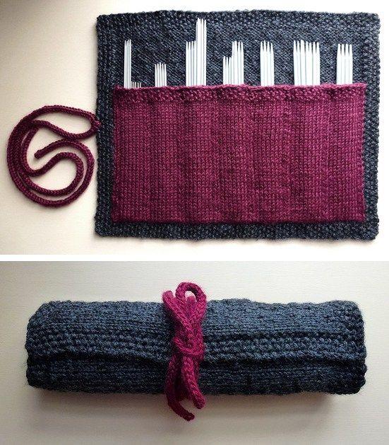 Strikk – oppbevaring av strikkepinner og annet nyttig