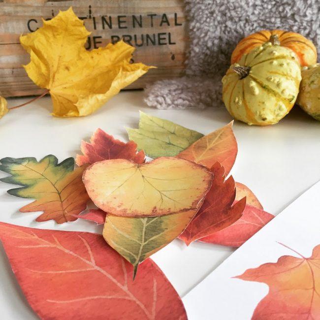 Høstløv kan printes ut og brukes til utallige hobbyprosjekter