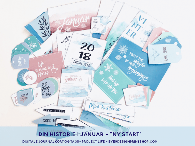 """Ny start"" med Project life og lommescrapping - Bye9design"