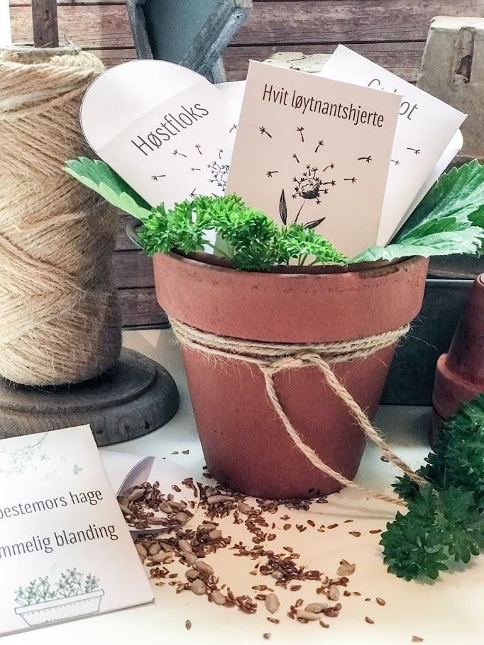 Lag dine egne frøposer - flotte gaver til hagevenner