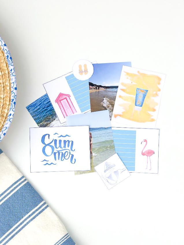 Sett feriebildene i fotoalbum med Summer Holiday fotopakke