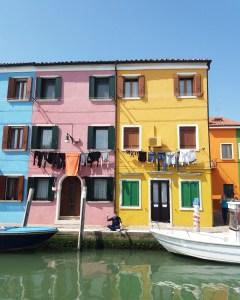 Burano - Venise - Façades colorées - Week-end - Bye bye Loukoum