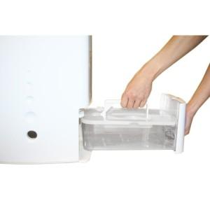 DD128 Ecoair desiccant dehumidifier water tank bucket remove indicator light drainage option
